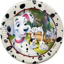 Disney 101 Damatian, Kiskutya gyerek party kellék, papírtányér 8 db-os