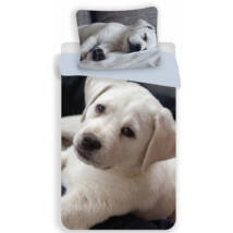 Labrador kutyás gyerek ágyneműhuzat 140x200 cm