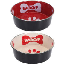 WOOF 2 COLOR PLATE SET 2 db kutyatál