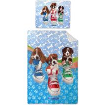 Kutyák cipőben gyerek ágyneműhuzat  140x200 cm