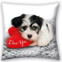 LOVE DOG kutyás gyermek párna, díszpárna