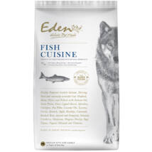 Eden Holistic kutyaeledel, száraztáp Fish Cuisine Medium Halválogatás kagylóval 12kg