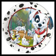 101 kiskutya Disney Kiskutya Papírtányér 8 db-os, gyerek party kellék, szülinapra