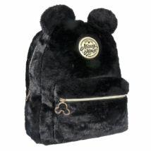 Disney Mickey Mouse Divattáska, plüss, fekete 33 cm