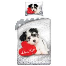 LOVE DOG kutyás gyermek ágyneműhuzat 140x200 cm