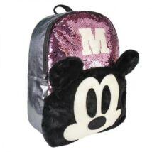 Disney Mickey 3D divattáska, gyerek táska plüss, flitteres 40 cm