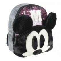 Disney Mickey 3D divattáska, gyerek táska plüss, flitteres 25 cm