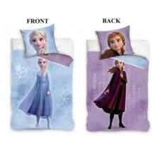 Disney Jégvarázs Elsa gyerek két oldalas ágyneműhuzat 140×200cm, 70×90 cm Frozen