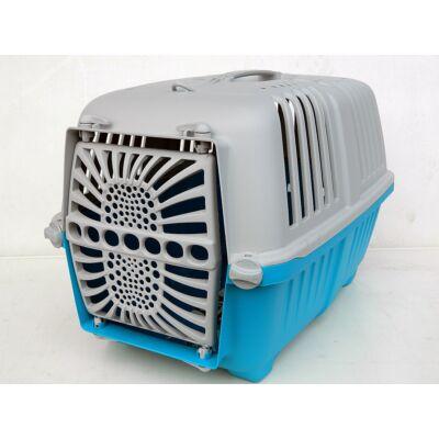 Kutyaszállító box kék 48x31,5x33 cm