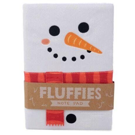 Karácsonyi hóember notesz plüssborítóval gyerekeknek, vonalas, A5