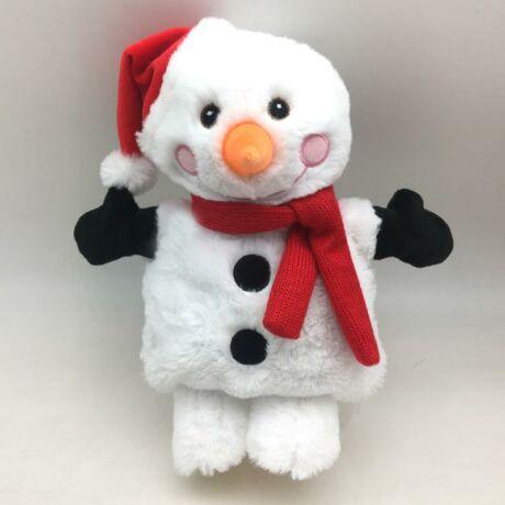 Mikrózható Plüss Figura, Karácsonyi Hóember gyerekeknek