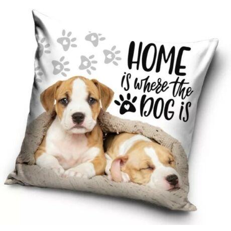HOME IS WHERE THE DOG IS kutyás gyerek párna