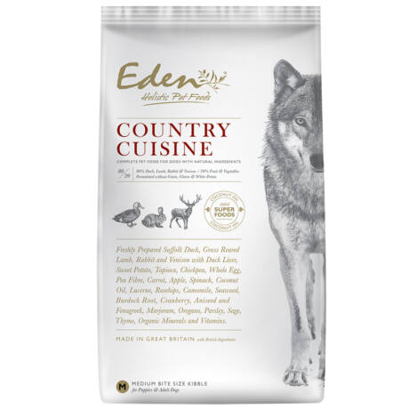 Eden Holistic kutyaeledel száraztáp Country Cuisine Small Vadhús bárannyal 12kg