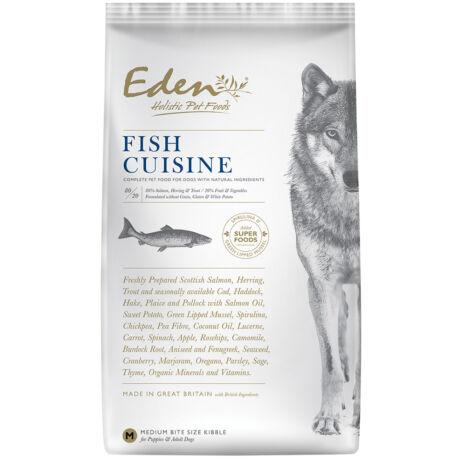 Eden Holistic kutyaeledel száraztáp Fish Cuisine Small Halvalogatás kagylóval 2kg