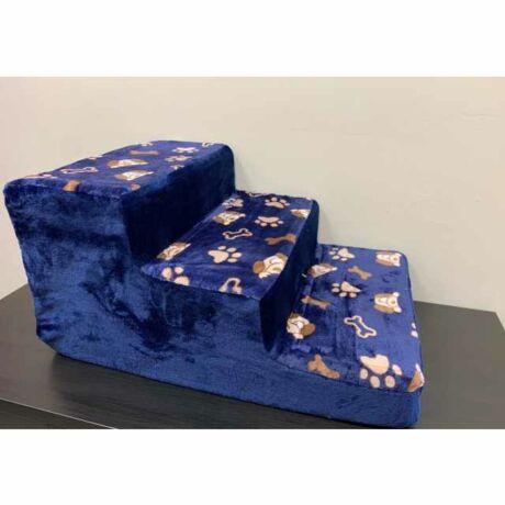 Kék csontos szivacs lépcső 3 fokos (35x40x60cm)