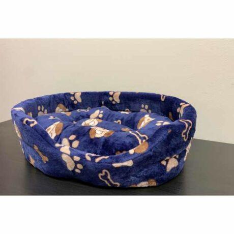 Kék csontos ovális kutyaágy, fekhely (35x50cm)