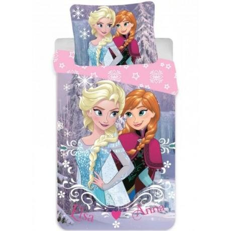 Disney Jégvarázs Gyerek ágyneműhuzat 90×140cm, 40×55 cm Elsa, Anna, Frozen