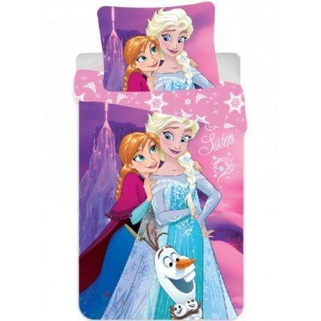 Disney Jégvarázs Gyerek ágyneműhuzat 90×140cm, 40×55 cm Elsa Anna Frozen hóember