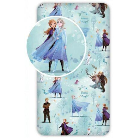 Disney Jégvarázs Elza gyerek gumis lepedő 90*200 cm Frozen