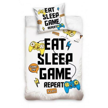 Gamer ágyneműhuzat 140×200cm, 70×90 cm Eat Sleep Game